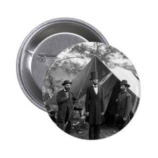 Abraham Lincoln Allan Pinkerton John A. McClernand Pinback Button