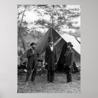 Abraham Lincoln Allan Pinkerton John A. McClernand Poster