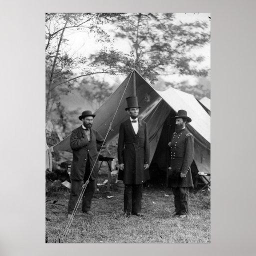 Abraham Lincoln Allan Pinkerton John A. McClernand Print