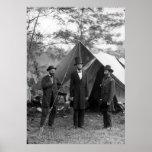 Abraham Lincoln Allan Pinkerton Juan A. McClernand Posters