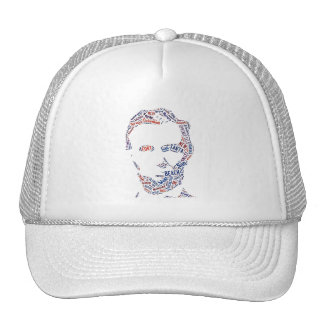 Abraham Lincoln American Cities Tag Cloud Wordings Trucker Hat