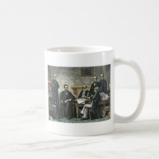 Abraham Lincoln and His Cabinet Coffee Mug