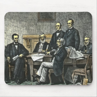 Abraham Lincoln and His Cabinet Mouse Pad