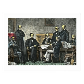 Abraham Lincoln and His Cabinet Postcard