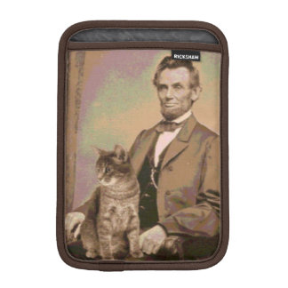 "Abraham Lincoln and his cat ""Dixie"" Sleeve For iPad Mini"