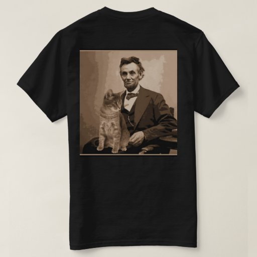Abraham lincoln and his cat dixie t shirt zazzle for T shirt printing lincoln