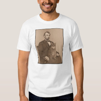 "Abraham Lincoln and his cat ""Gloria"" 2 Tee Shirt"