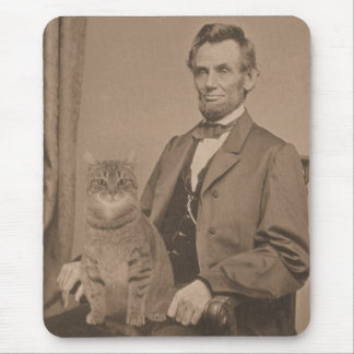 "Abraham Lincoln and his cat ""Gloria"" Mouse Pad"
