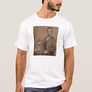 "Abraham Lincoln and his cat ""Gloria"" T-Shirt"
