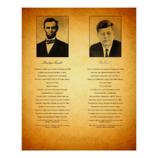 Abraham Lincoln and John F Kennedy Conspiracy Poster
