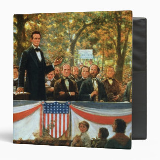 Abraham Lincoln and Stephen A. Douglas 3 Ring Binder