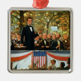 Abraham Lincoln and Stephen A. Douglas Metal Ornament