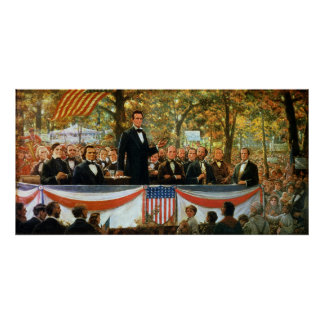 Abraham Lincoln and Stephen A. Douglas Poster