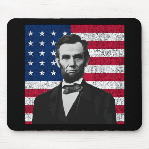Abraham Lincoln and The American Flag Mouse Pad