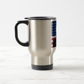 Abraham Lincoln and The American Flag mug