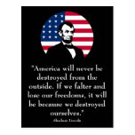 Abraham Lincoln and The American Flag Postcard