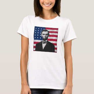 Abraham Lincoln and The American Flag T-Shirt