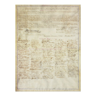 Abraham Lincoln Approval Signature 13th Amendment Poster