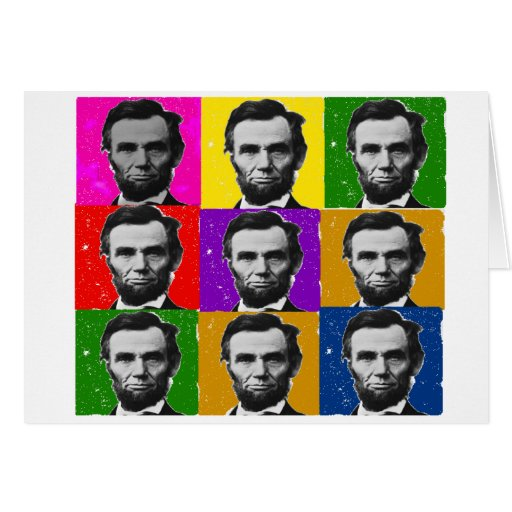Abraham Lincoln Art Gifts---Unique 9 Photos Card