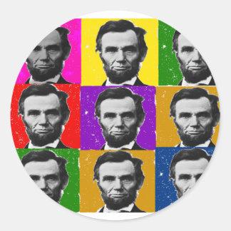 Abraham Lincoln Art Gifts---Unique 9 Photos Classic Round Sticker