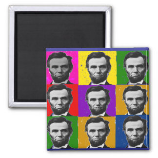 Abraham Lincoln Art Gifts---Unique 9 Photos Magnet