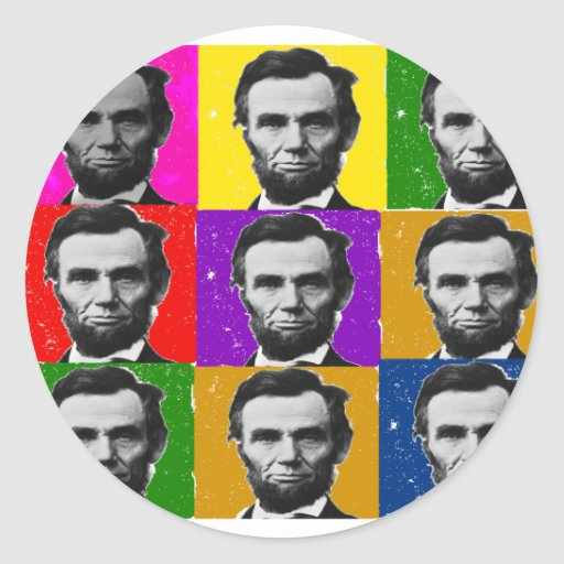 Abraham Lincoln Art Gifts---Unique 9 Photos Stickers