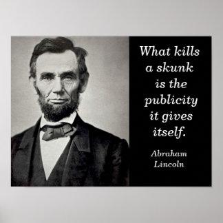 Abraham Lincoln - art print