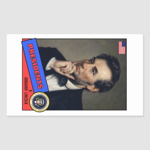 Abraham Lincoln Baseball Card Rectangle Stickers