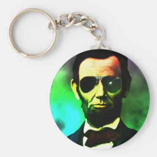 Abraham Lincoln Basic Round Button Keychain