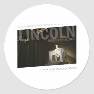 Abraham Lincoln bicentennial Classic Round Sticker