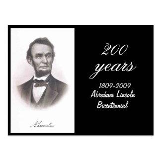 Abraham Lincoln Bicentennial Commemorative Postcard