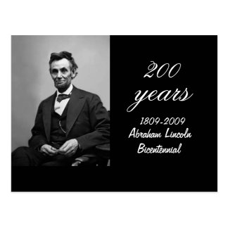 Abraham Lincoln Bicentennial Commemorative Postcard