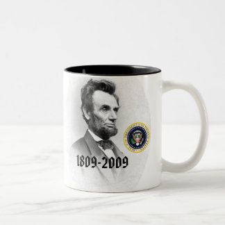 Abraham Lincoln Bicentennial Commemorative Two-Tone Coffee Mug