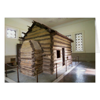 Abraham Lincoln Birthplace Cabin Blank Card Cards
