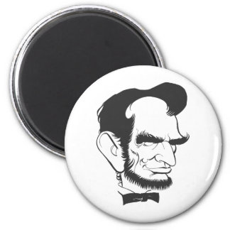 Abraham Lincoln (Black and white) Magnets