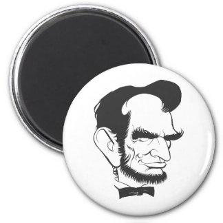 Abraham Lincoln (blanco y negro) Imán De Nevera
