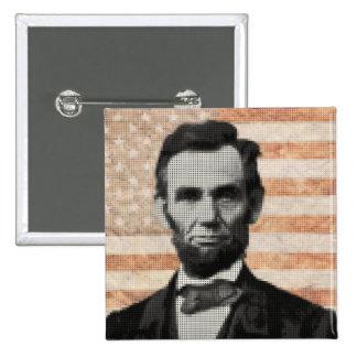 Abraham Lincoln 2 Inch Square Button