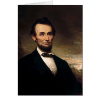 Abraham Lincoln by George H Story Card