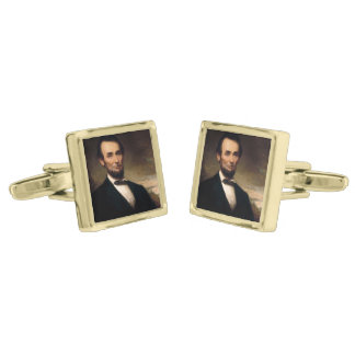 Abraham Lincoln by George H Story Gold Cufflinks