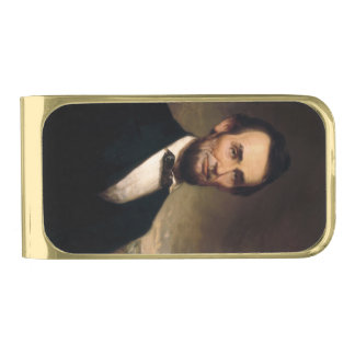 Abraham Lincoln by George H Story Gold Finish Money Clip