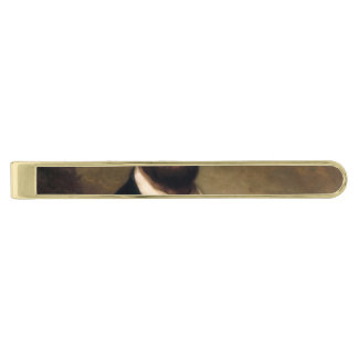 Abraham Lincoln by George H Story Gold Finish Tie Clip