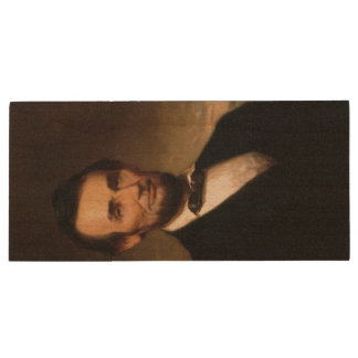 Abraham Lincoln by George H Story Wood USB 3.0 Flash Drive