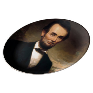Abraham Lincoln by George H Story Porcelain Plate