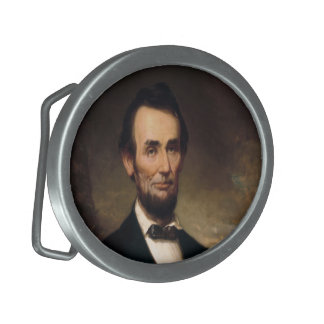 Abraham Lincoln by George H Story Oval Belt Buckle