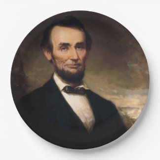 Abraham Lincoln by George H Story 9 Inch Paper Plate