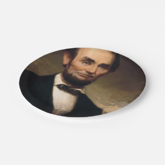 Abraham Lincoln by George H Story 7 Inch Paper Plate