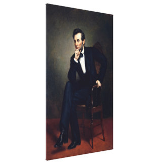 ABRAHAM LINCOLN by George Peter Alexander Healy Canvas Print
