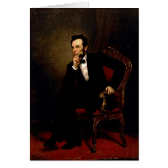 Abraham Lincoln by George Peter Alexander Healy Card