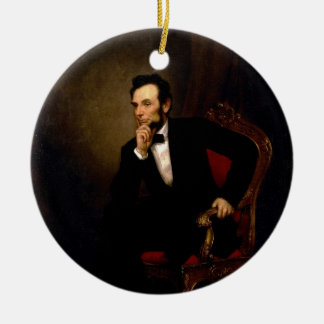 Abraham Lincoln by George Peter Alexander Healy Ceramic Ornament