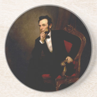 Abraham Lincoln by George Peter Alexander Healy Coaster